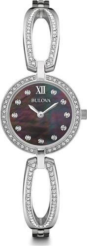 BULOVA DRESS STAINLESS WOMENS QUARTZ WATCH 26MM