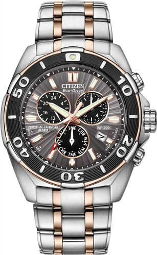 CITIZEN SIGNATURE PERPETUAL ECO-DRIVE WATCH 43MM
