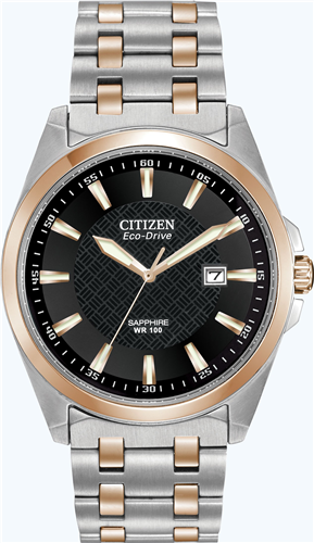 CITIZEN MENS CORSO ECO-DRIVE STAINLESS WATCH, 40MM