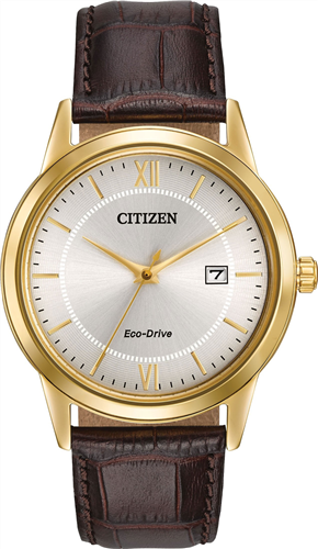 CITIZEN MENS ECO-DRIVE GOLD-TONE WATCH 40MM