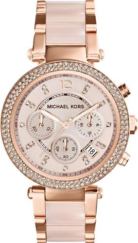 Michael Kors Parker Blush/Rose Gold Womens Watch 39mm