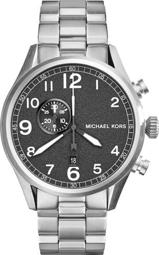 Michael Kors Hangar Silver-Tone Mens Watch 45mm