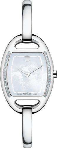 MOVADO WOMENS SWISS MIRI DIAMOND WATCH 24MM