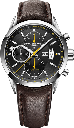 Đồng hồ nam RAYMOND WEIL WATCH, MENS SWISS BROWN, 42MM